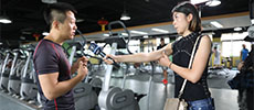 外国人慕名专访来思蕾姆减肥训练营了